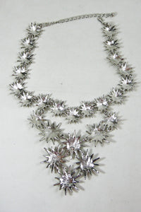 Kenneth Jay Lane Brilliant Runway Stars Bib Necklace