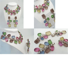 Load image into Gallery viewer, Vintage Kenneth J. Lane Rhinestone Necklace & Earrings