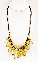 Vintage Chunky Lemon Quartz Necklace