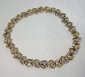 Vintage Signed Mazer Swirl Crystal Necklace