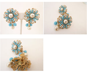 Vintage Signed Miriam Haskell Drop Earrings