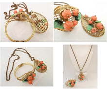 Load image into Gallery viewer, Vintage Early Miriam Haskell Pendant Necklace & Bracelet