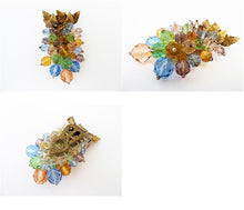 Load image into Gallery viewer, Vintage Early Miriam Haskell Multi-Color Fur Clip-Pin