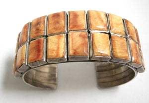 Vintage Navajo Pawn Spiny Oyster Shell Cuff