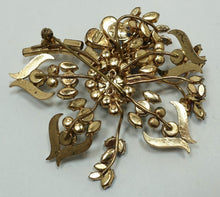 Load image into Gallery viewer, Vintage Signed Model Maryse Blanchard Paris Multi-Color Floral Brooch