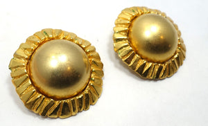 Vintage Signed Poggi Paris Clip Earrings