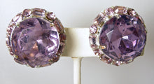 Load image into Gallery viewer, Vintage Faux Amethyst Crystal Earrings