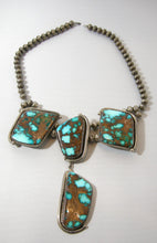 Load image into Gallery viewer, Vintage Sterling Rare Indian Morenci Turquoise Necklace By Albert Jake