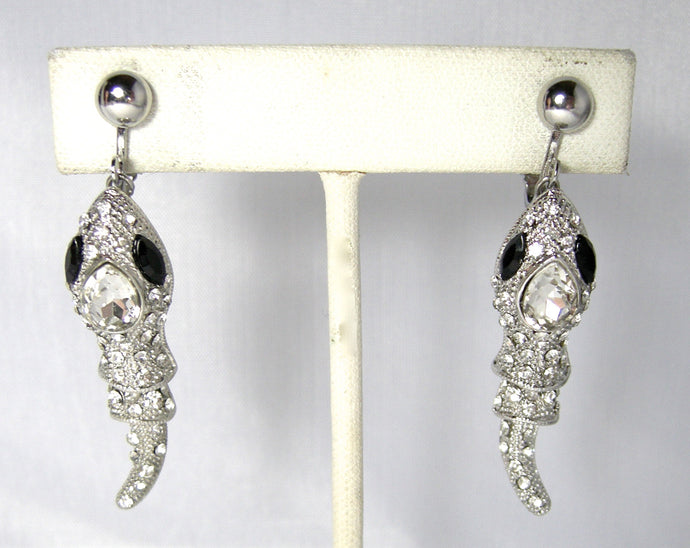 Crystal Wiggling Fish Drop Earrings - JD10109