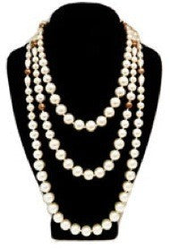 Vintage Signed Sandor 2-Strand Faux Pearl Necklace