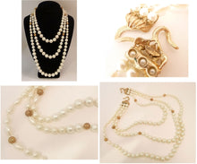 Load image into Gallery viewer, Vintage Signed Sandor 2-Strand Faux Pearl Necklace