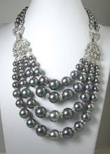 Load image into Gallery viewer, One-Of-A-Kind Robert Sorrell Tahitian Pearl and Crystal Necklace Set