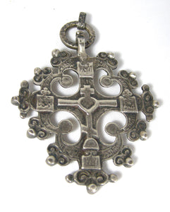 Vintage Sterling Italian Cross Pendant