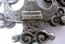 Load image into Gallery viewer, Vintage Sterling Italian Cross Pendant