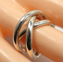 Load image into Gallery viewer, Vintage Famous Tiffany Sterling Silver Triple Crossover Ring, Size 7-1/2