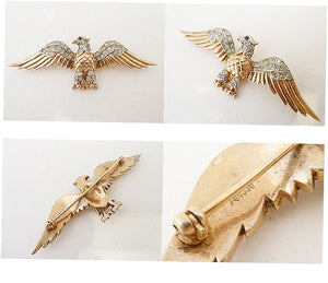 Vintage Signed Trifari Eagle Pin