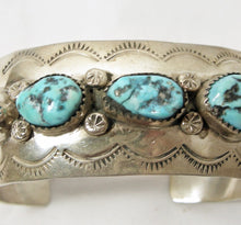Load image into Gallery viewer, Vintage Turquoise & Sterling Silver Cuff Bracelet