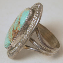 Load image into Gallery viewer, Vintage American Indian Pawn Turquoise & Sterling Ring, Size 11