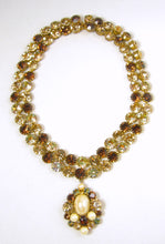 Load image into Gallery viewer, Unsigned JL Blin of Paris Topaz Necklace