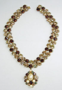 Unsigned JL Blin of Paris Topaz Necklace