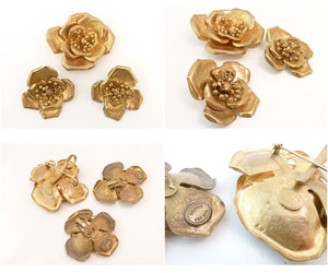 Vintage Signed Van Der Straeten Pin-Pendant & Earrings