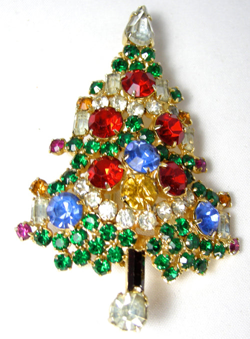 Vintage Colorful Signed Warner Christmas Tree With 4 candles - JD10164