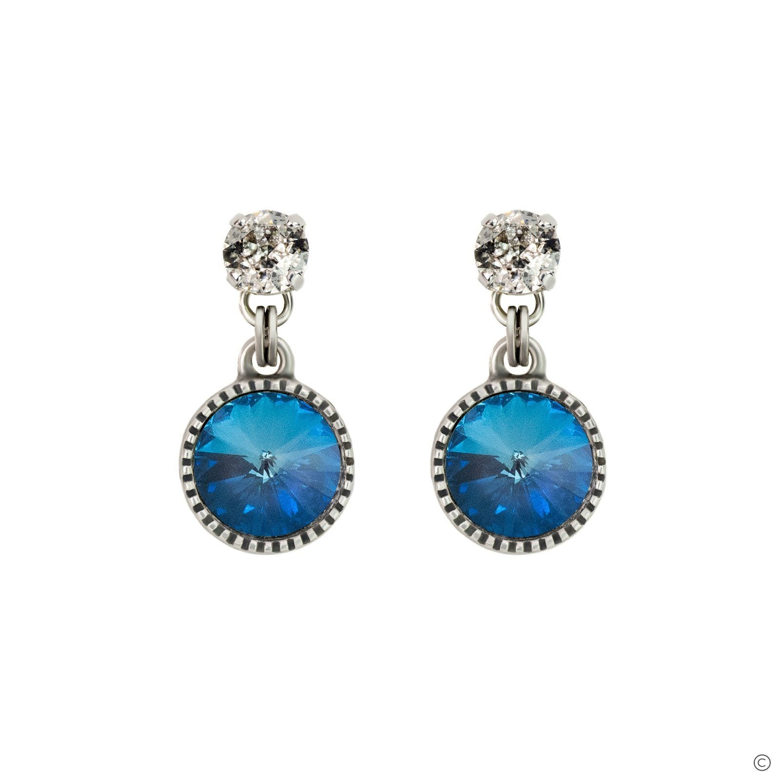 Daydream Earrings - Ocean Blue & Silver
