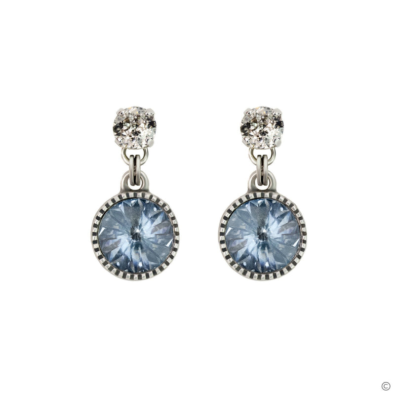Coravana - Daydream Earrings - Blue Shadow & Silver