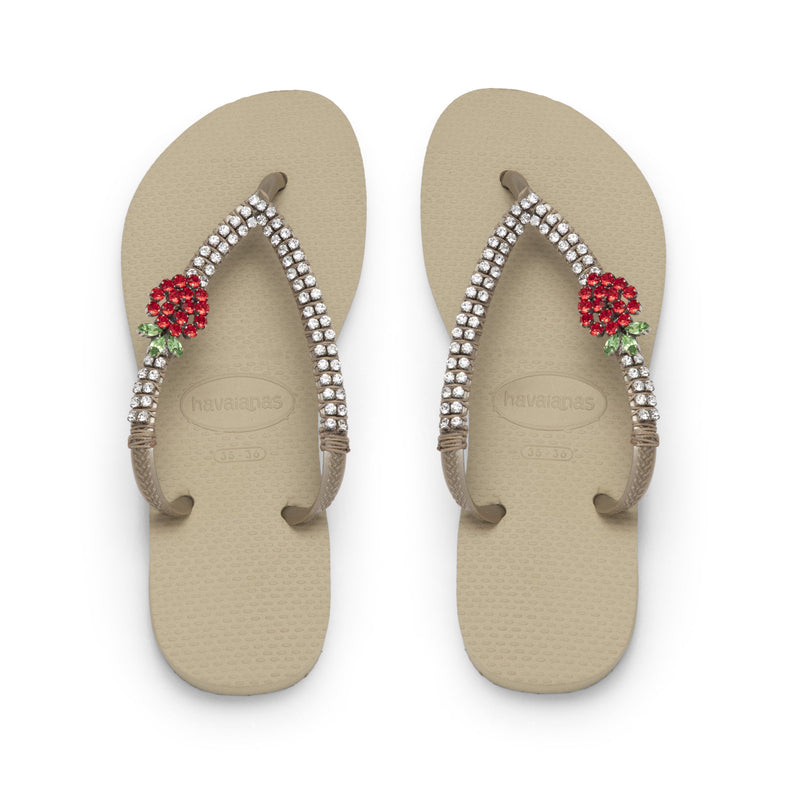 Coravana - Crystal Flip Flops - Sweet Strawberry