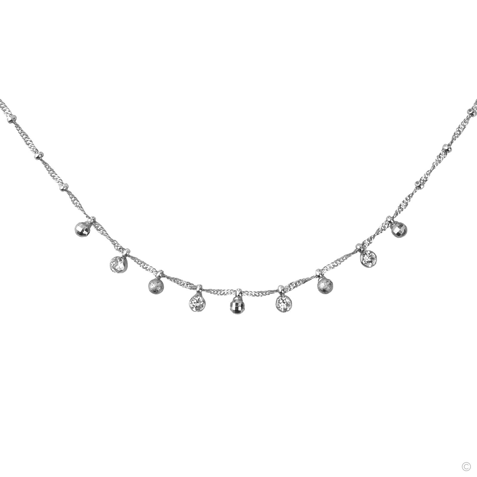 Essential Short Necklace - Silver