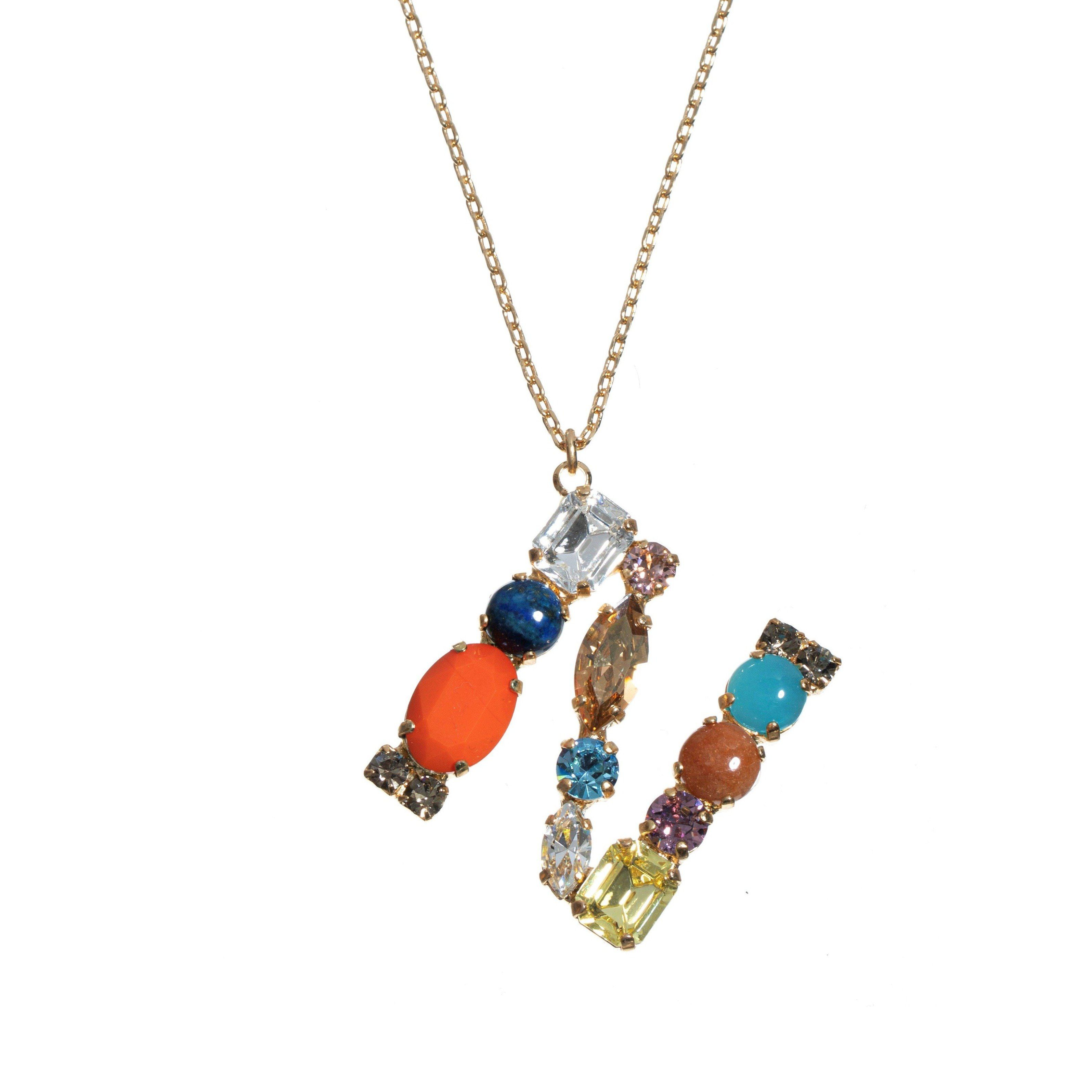 N Crystal Necklace