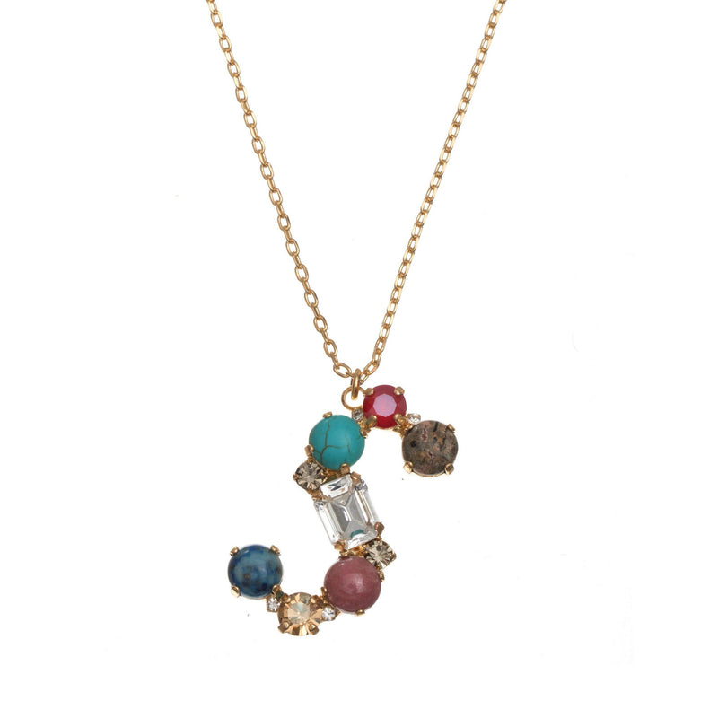 Coravana - S Crystal Necklace