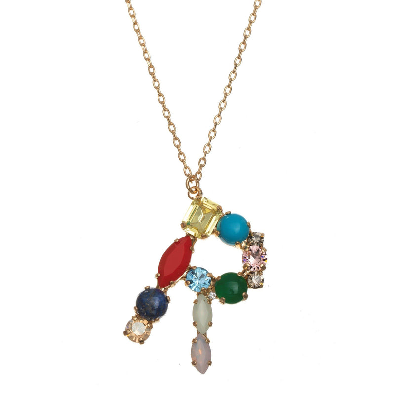 Coravana - R Crystal Necklace