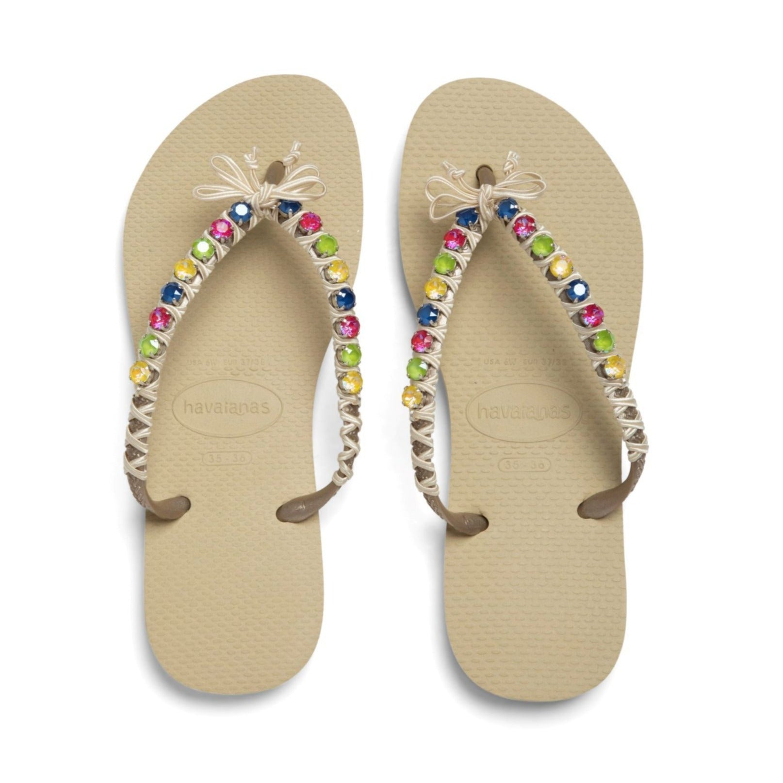 Crystal Flip Flops - Lollipop Combo