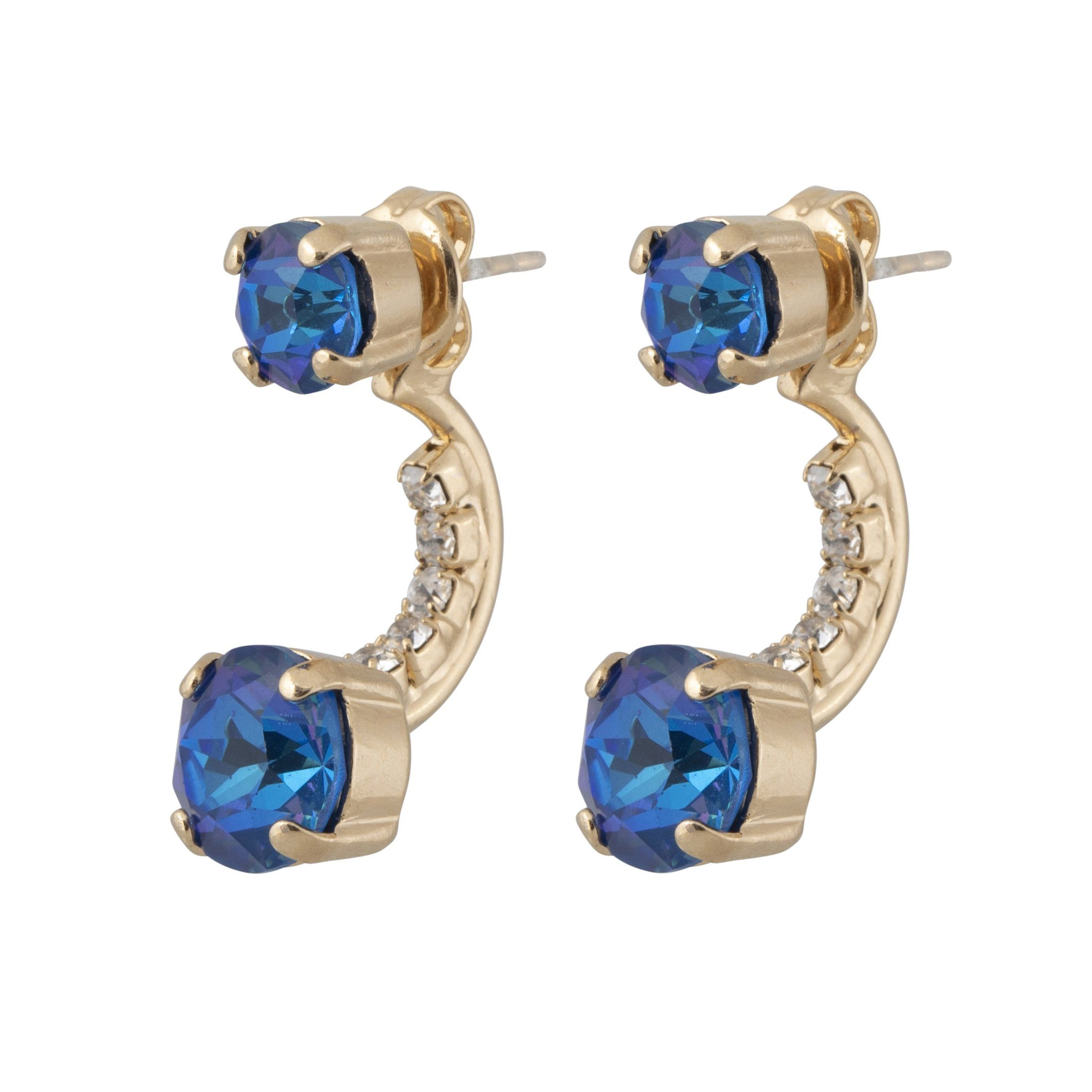 In Between Earrings - Royal Blue