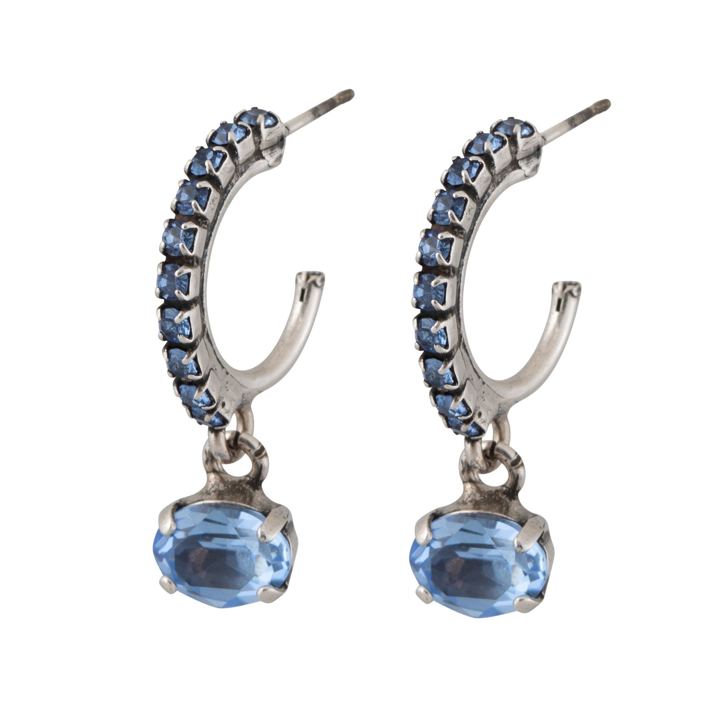 Flying Lotus Earrings- Light Blue