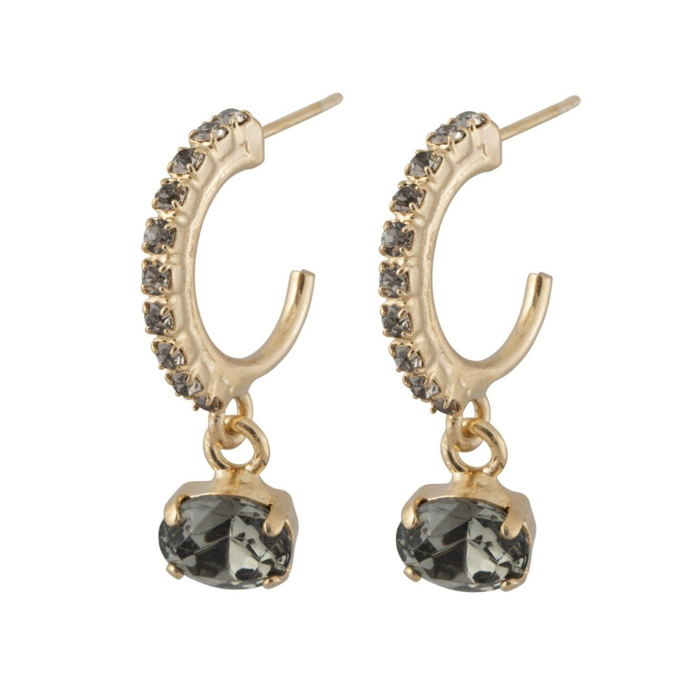 Flying Lotus Earrings - Black Diamond