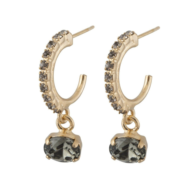 Coravana - Flying Lotus Earrings - Black Diamond