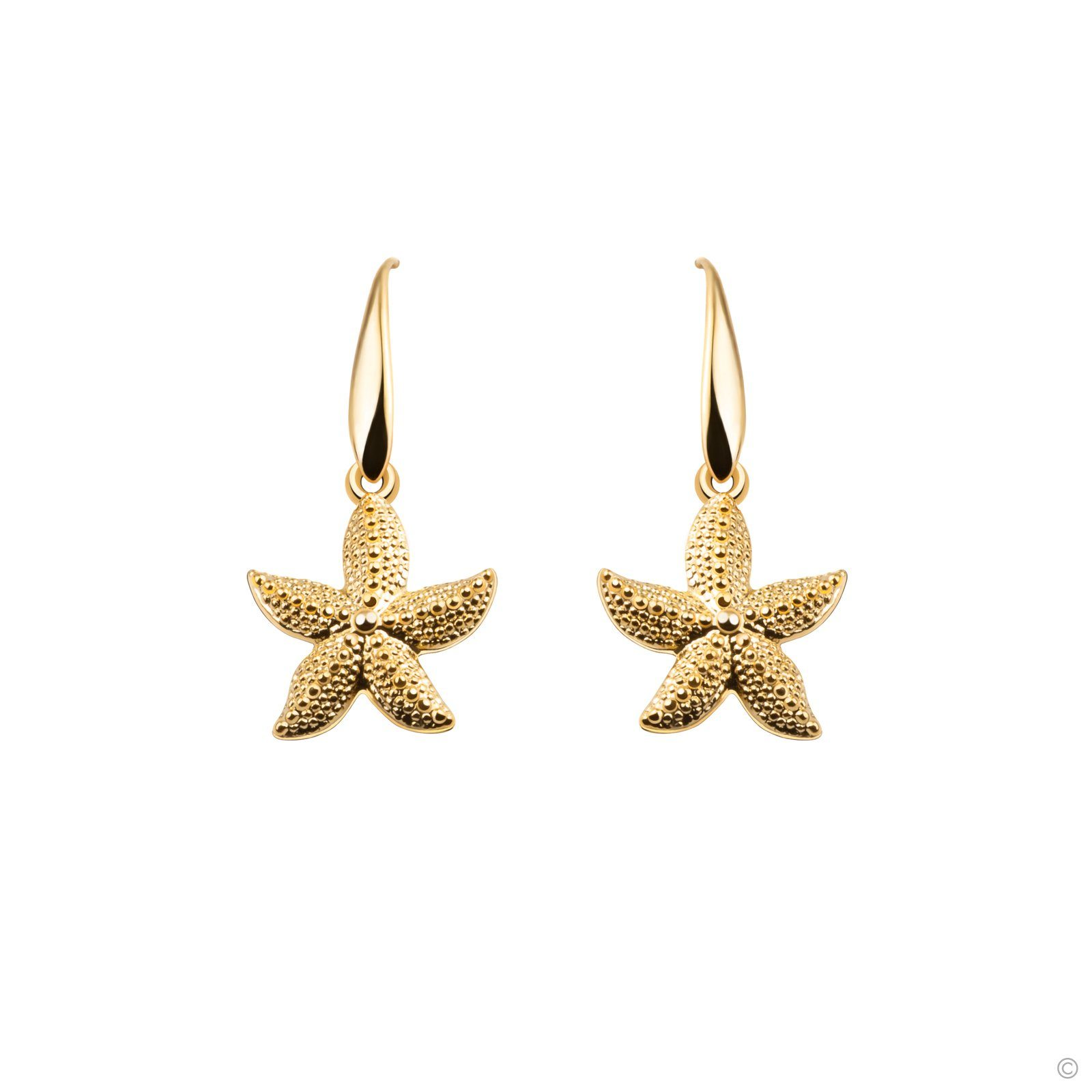 Ariel Starfish Hook Earrings