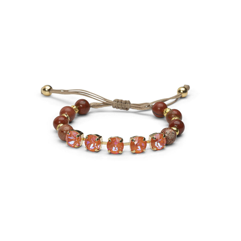 Coravana - Island Bracelet - Ruby & Orange