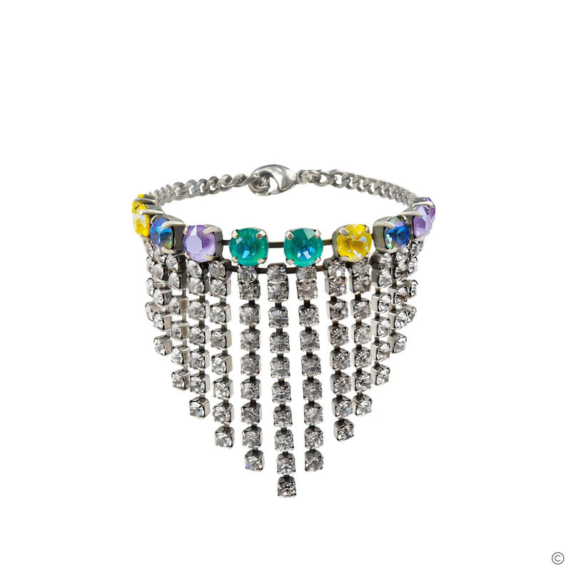 Coravana - Crystal Anklet - Silver Multicolored