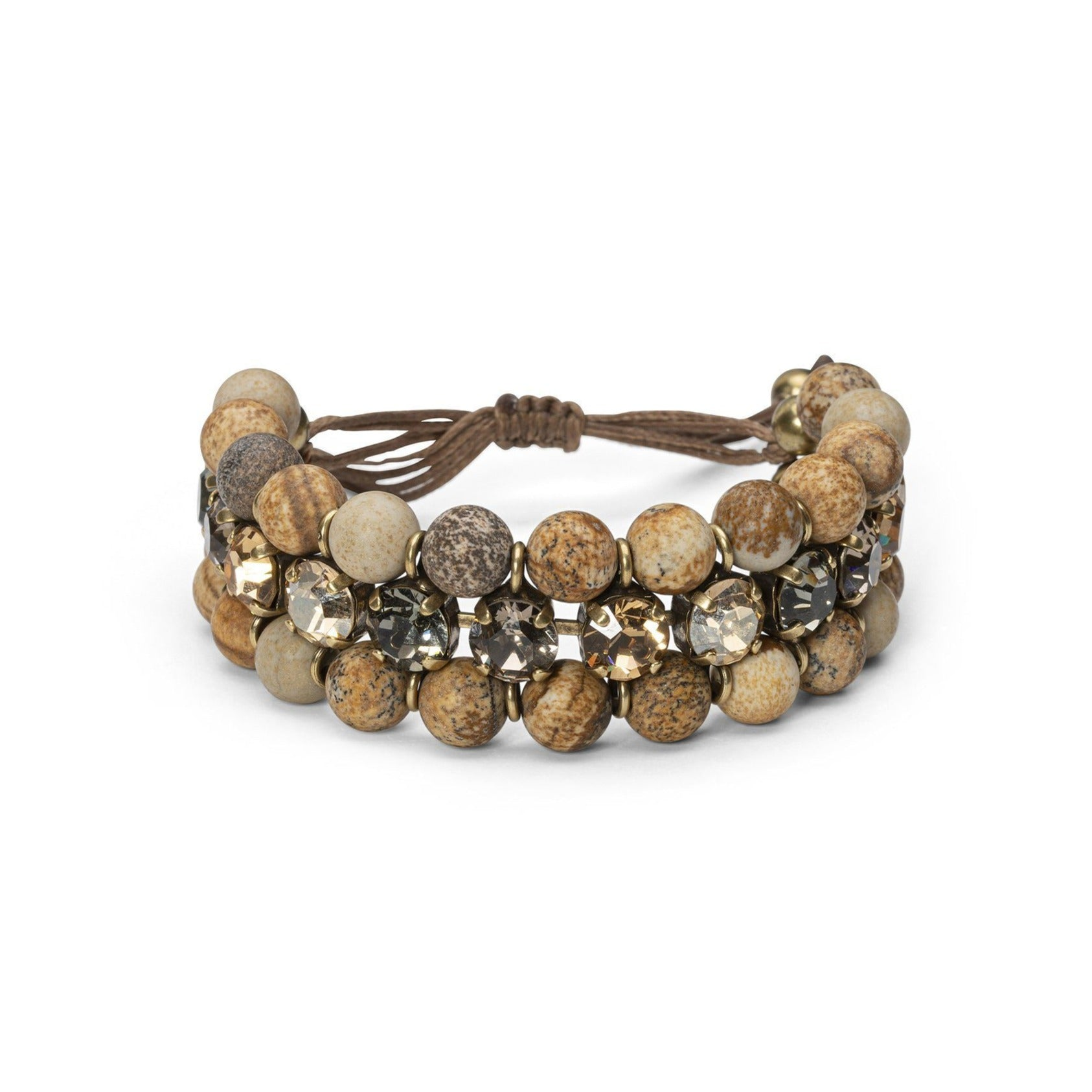 Triple Island Bracelet - Brown