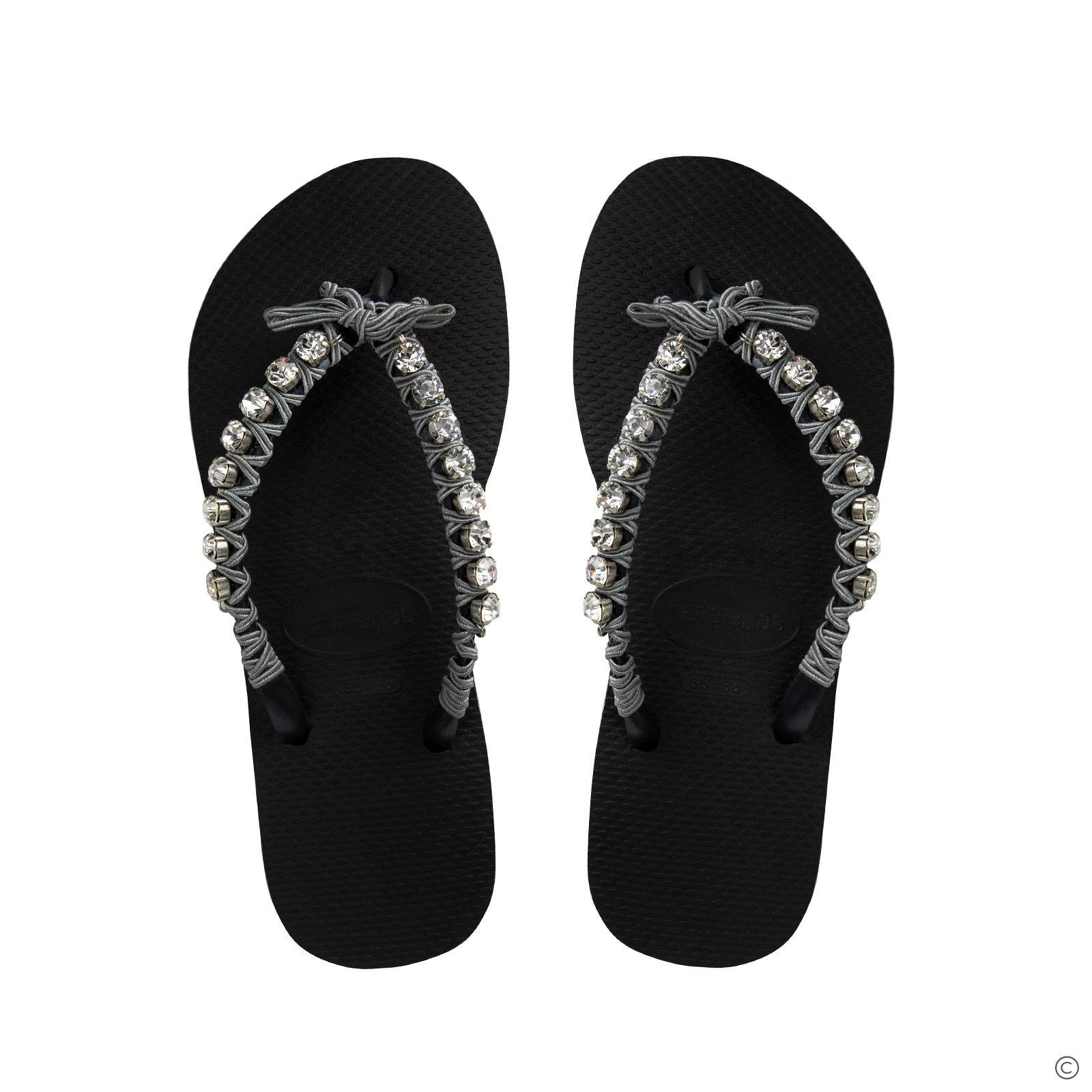 Diamond Crystal Flip Flops