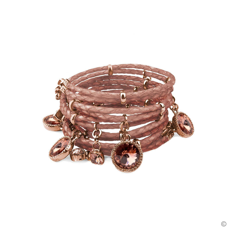 Coravana - Daydream Leather Bracelet - Pink & Rose Gold