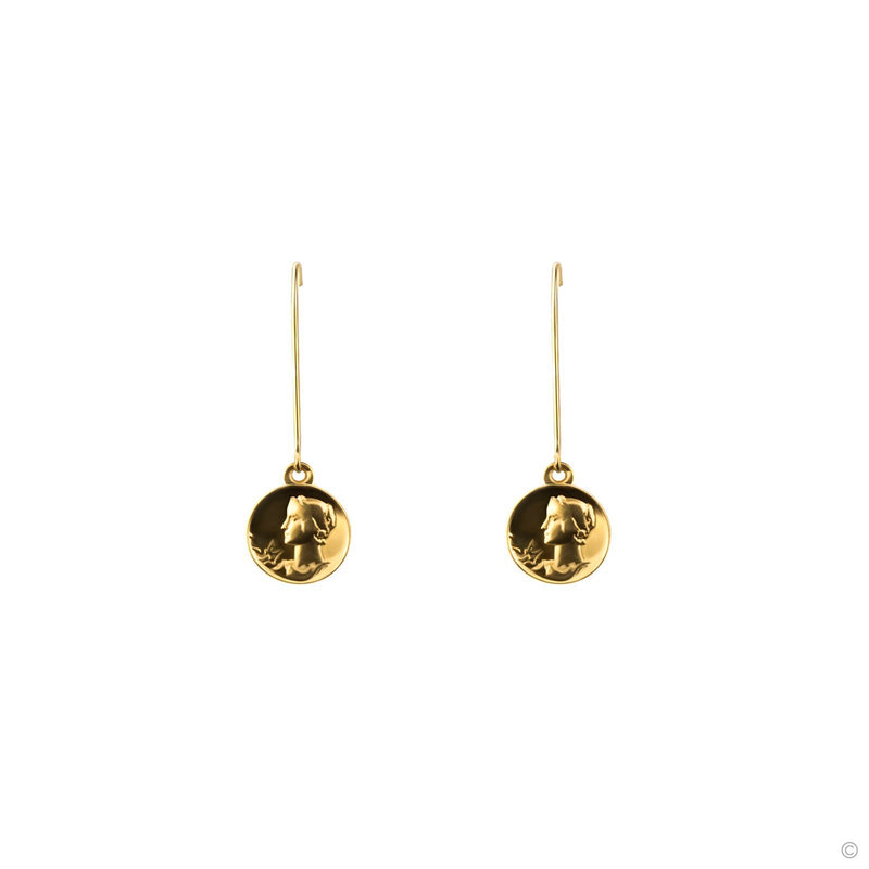 Coravana - Royal Coin Hoop Earrings