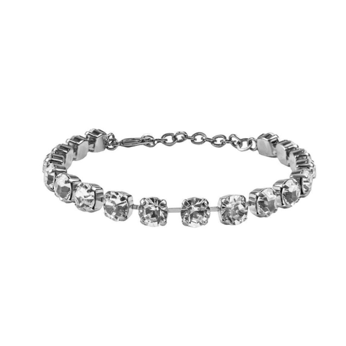 Crystal Anklet - Silver Clear