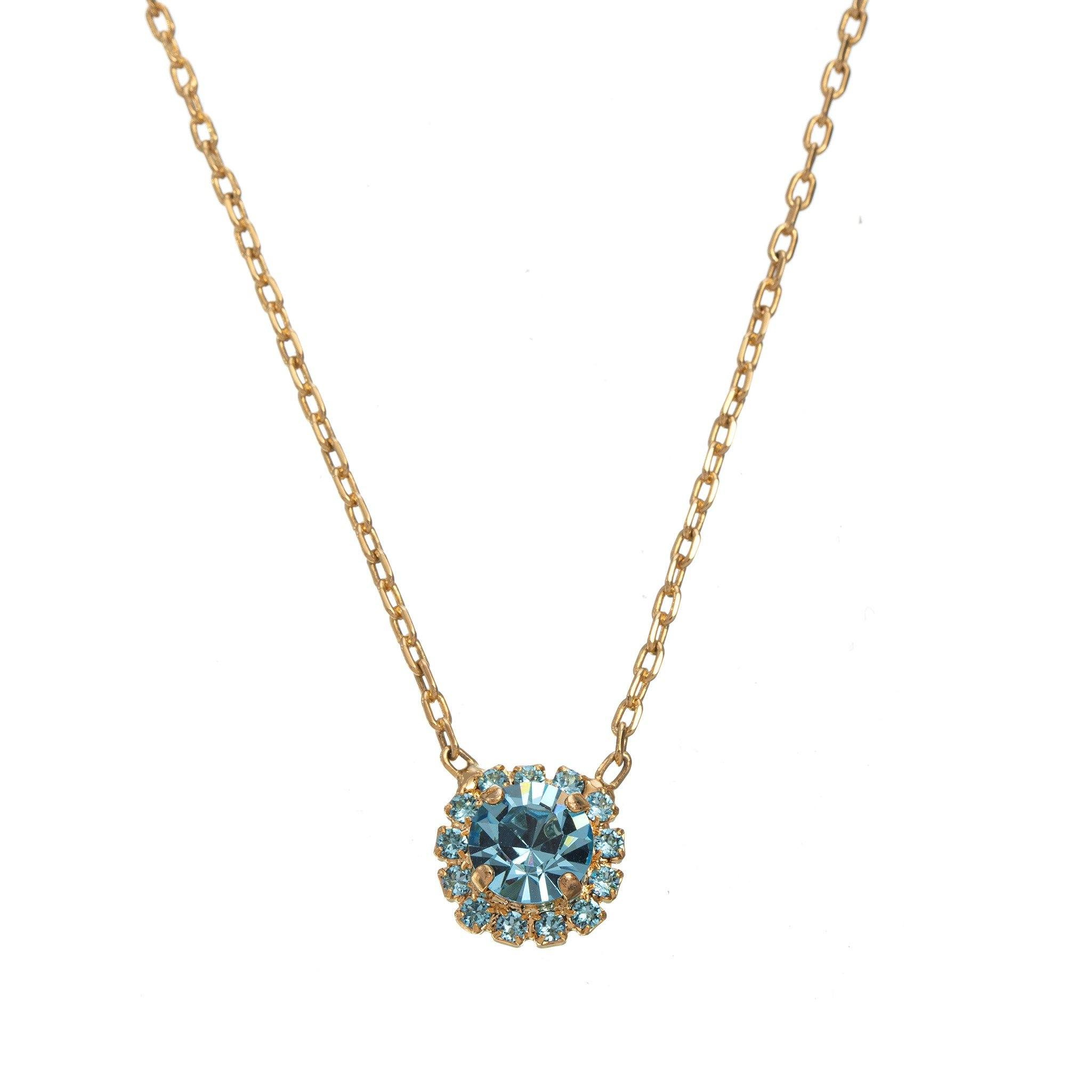 Royal Stone Necklace - light Blue