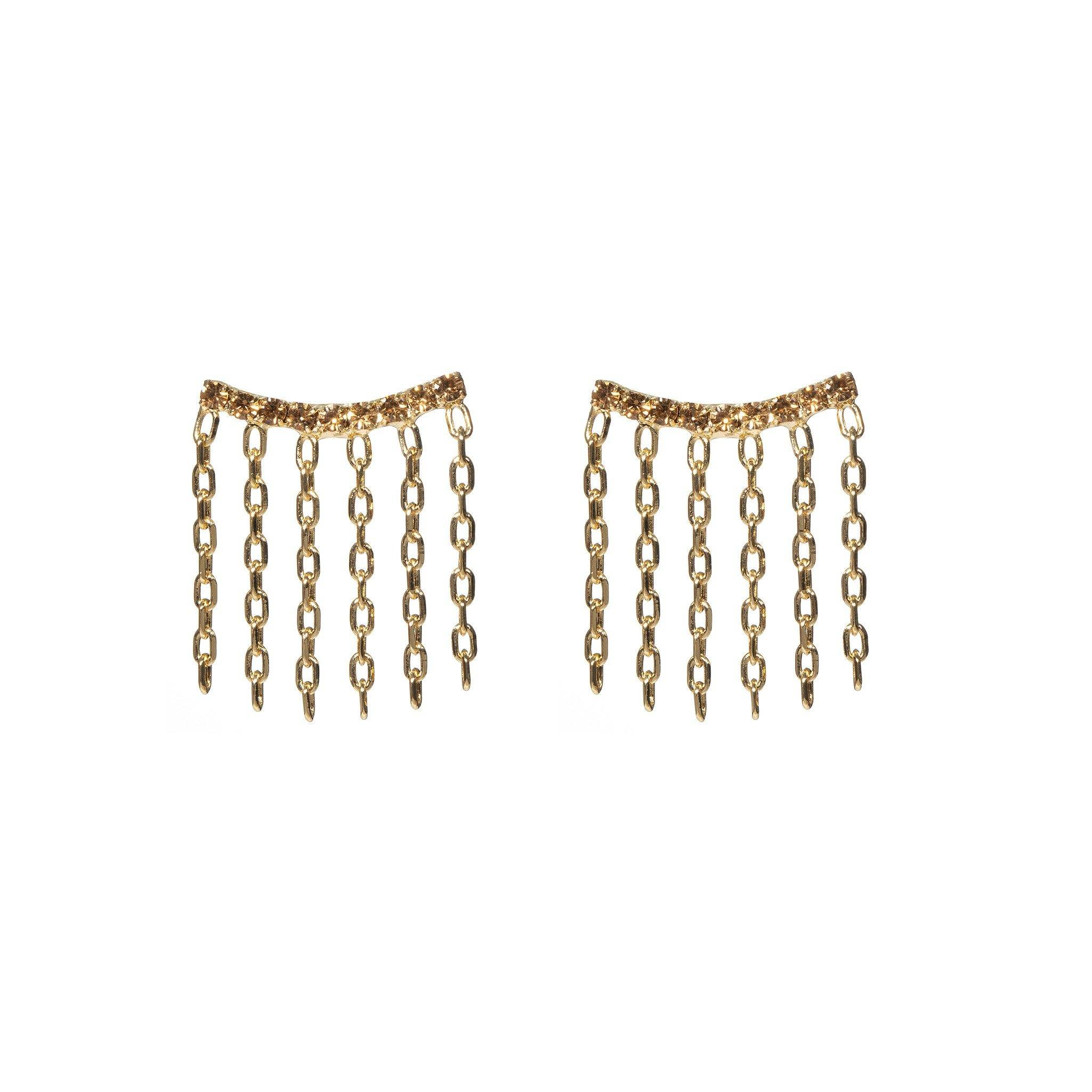 Double Lux Earrings - Honey