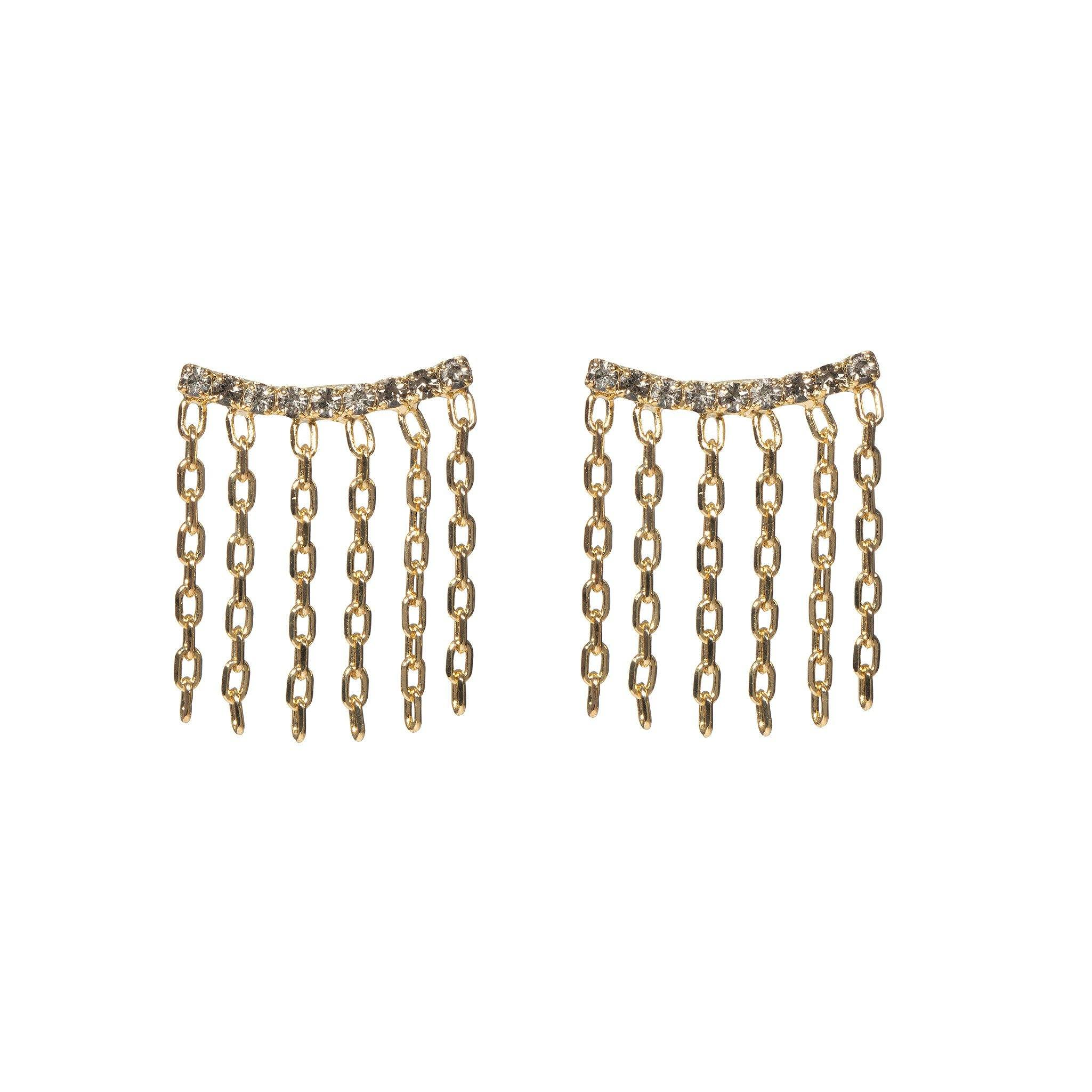 Double Lux Earrings - Black Diamond