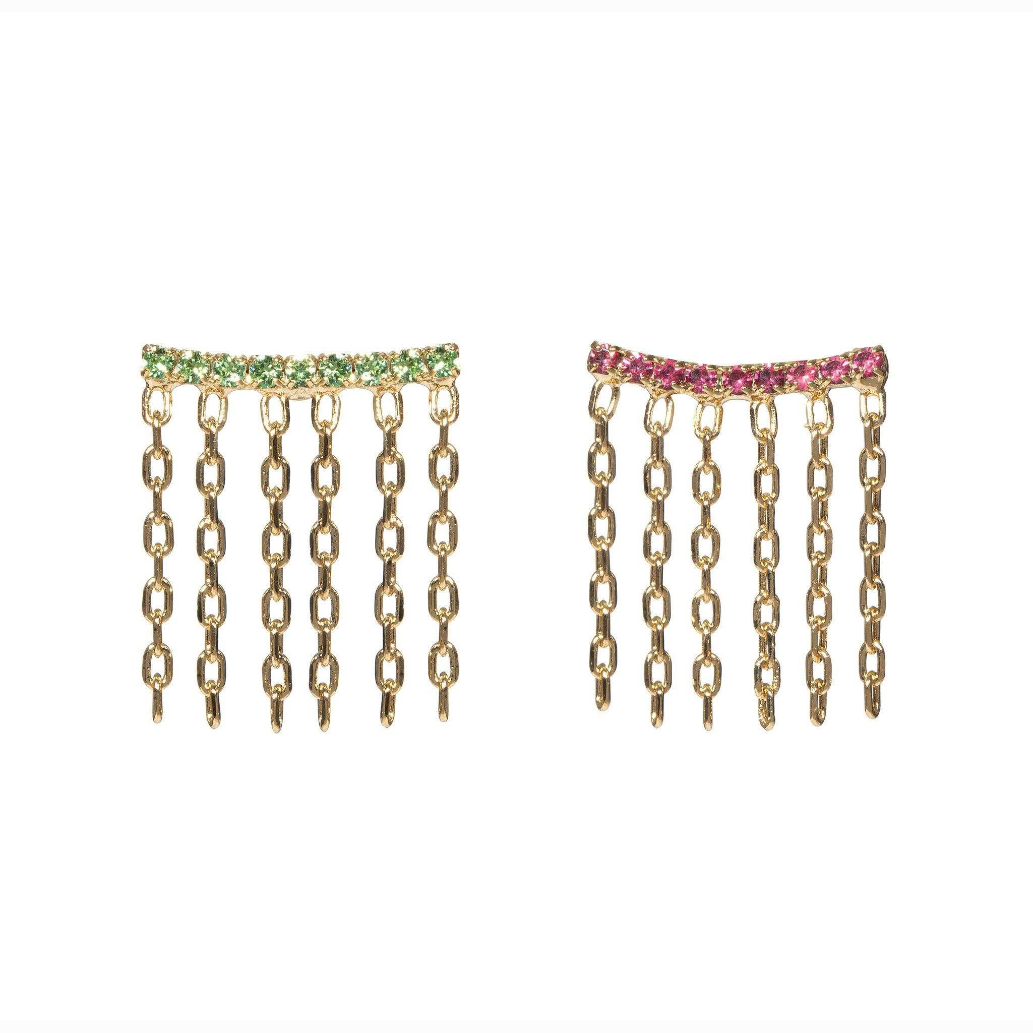 Double Lux Earrings - Multicolor